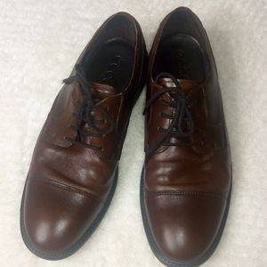 Ecco Leather Lace-Up Mens Shoes